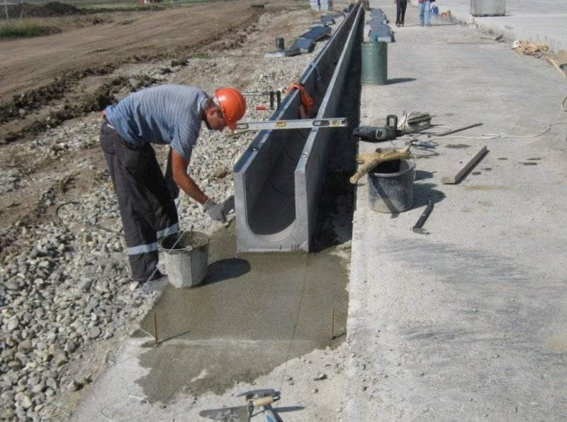 Руководство по монтажу водоотводных бетонных лотков