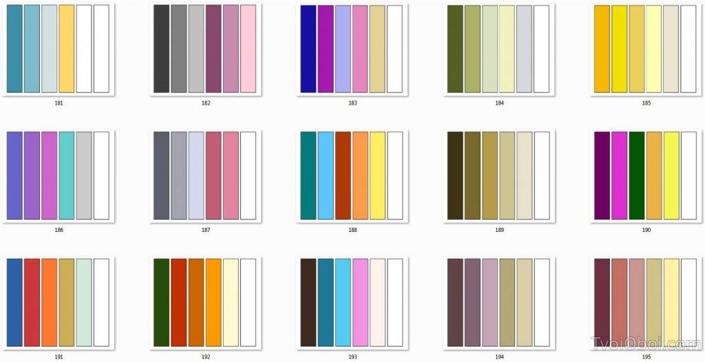Таблица сочетания цветов в интерьере и основные секреты дизайна
