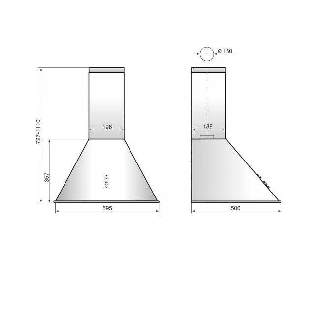 Размеры вытяжек на кухню
