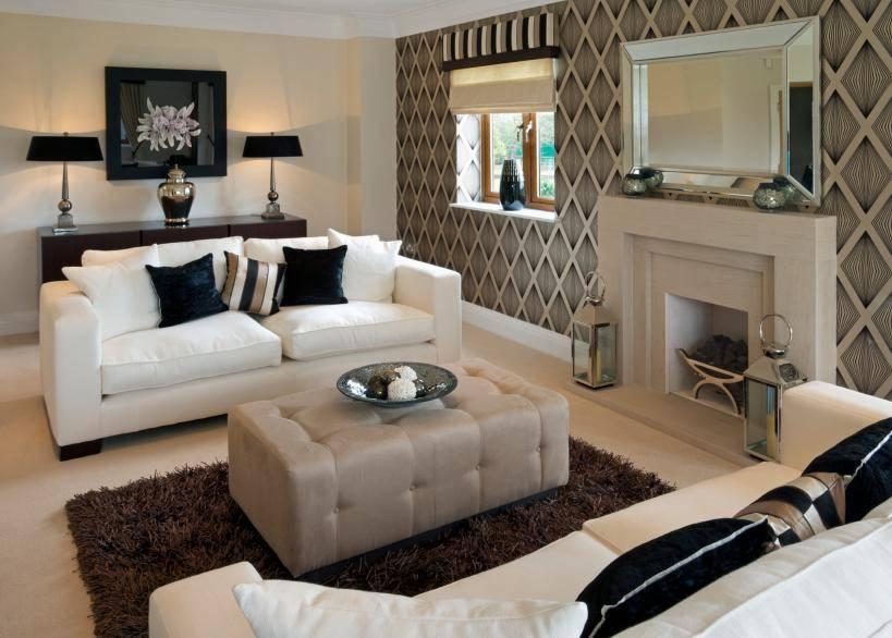 Обои для зала, как выбирать, комбинировать и сочетать с мебелью