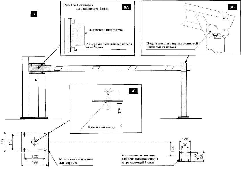 Шлагбаум своими руками: чертеж, изготовление и монтаж