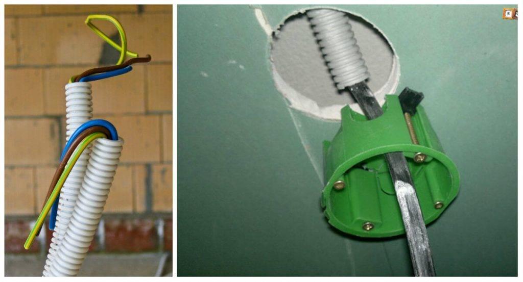 Как правильно проложить проводку в перегородке из гипсокартона