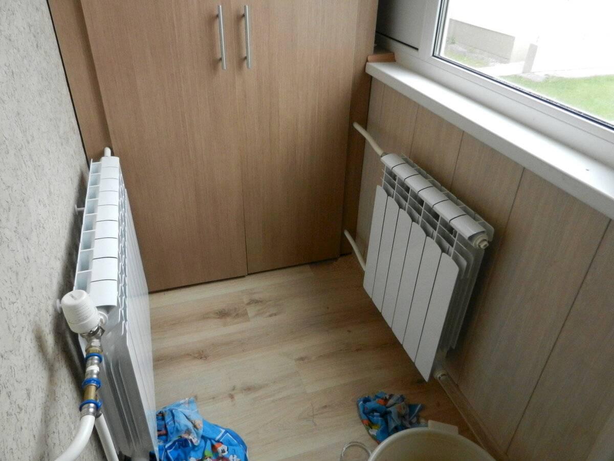 Вынос батареи на балкон: нормы по закону, подготовка к установке, и варианты подключения радиатора отопления