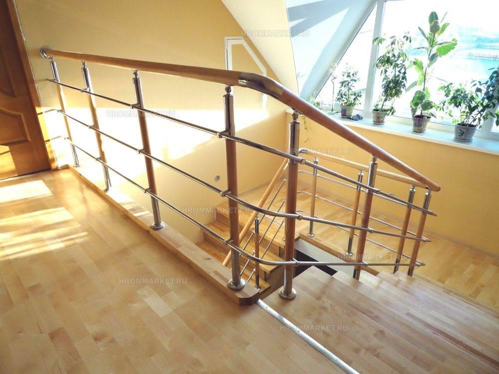 Ограждение лестниц для загородного дома своими руками: фото перил, поручней и способы их крепления
