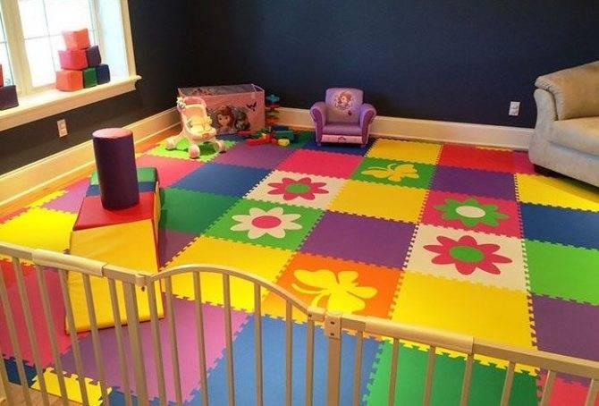 Мягкий пол — идеальное покрытие для детских комнат