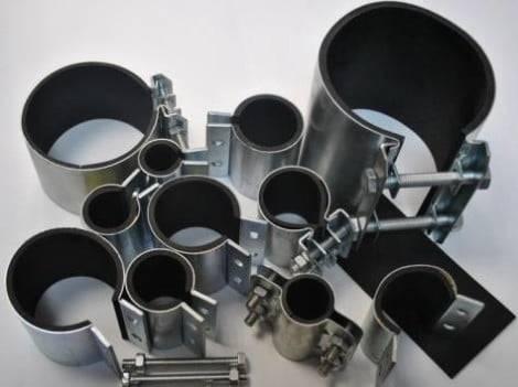 Виды ремонтных хомутов для труб и правила их использования