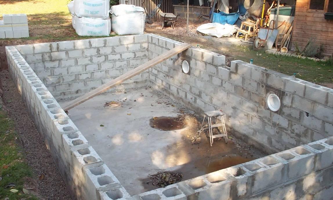 Как построить бассейн на даче своими руками - поэтапное устройство