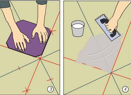 Укладка плитки на пол по диагонали: как положить напольную плитку, как класть, раскладка, фото и видео