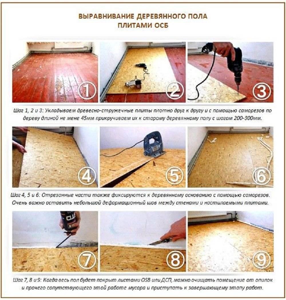 Как правильно укладывать ОСБ на деревянный пол