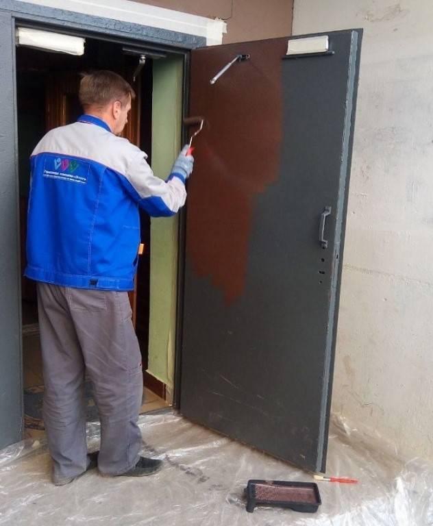Чем покрасить входную металлическую дверь: подробное руководство