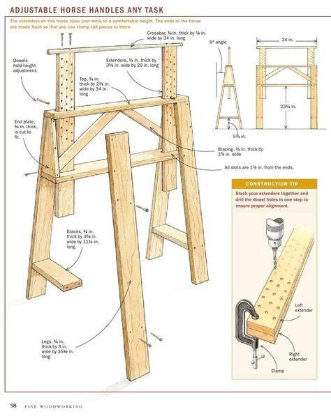 Самостоятельное изготовление строительных козлов: инструкция +фото и видео