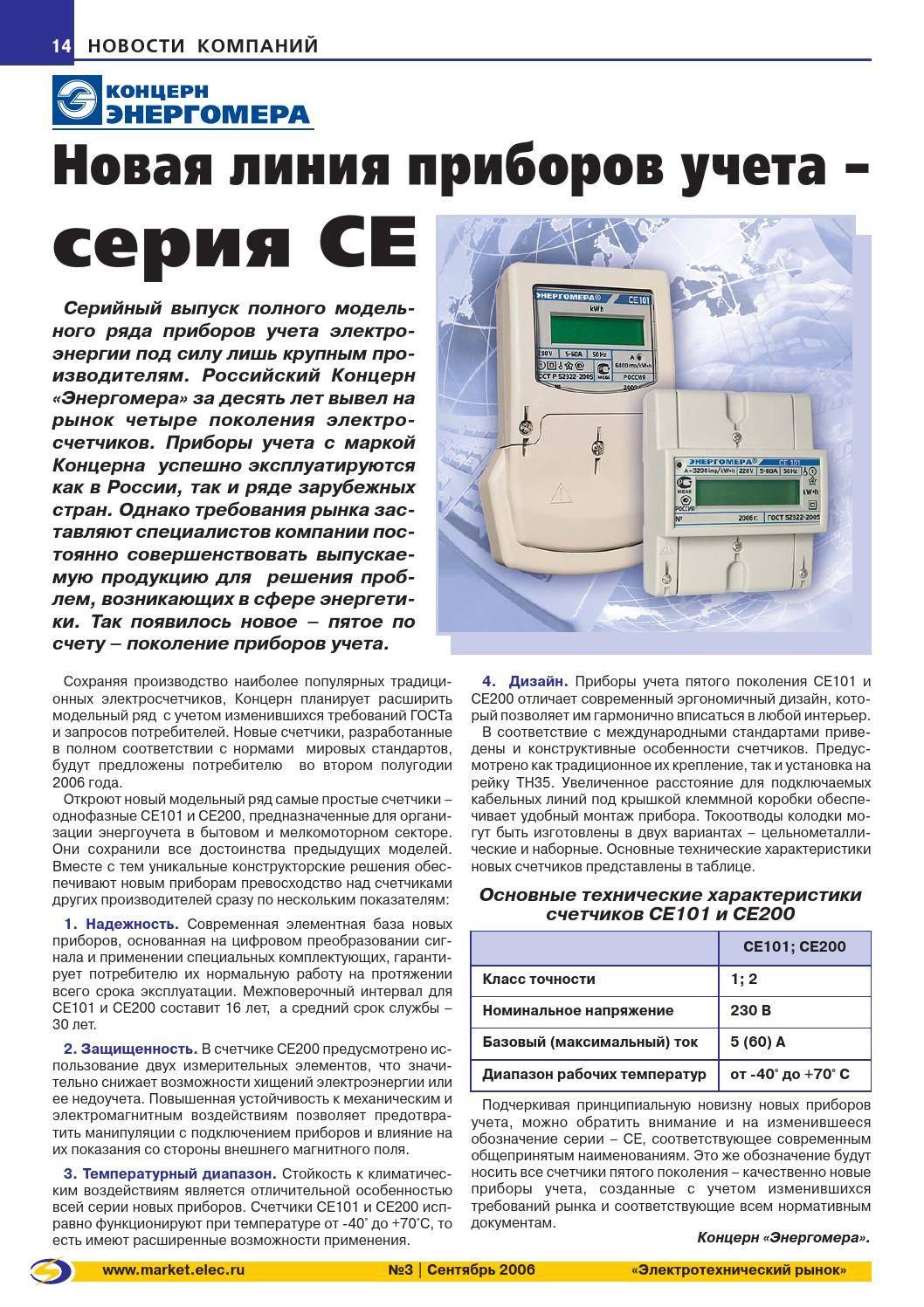 Тесты электросчетчиков российского производства