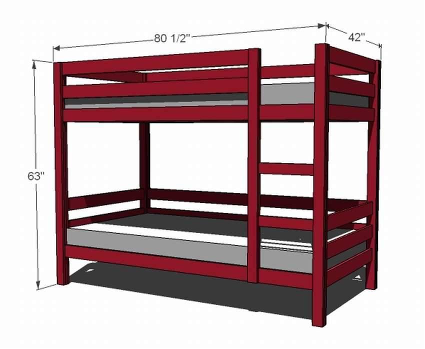 Простая двухъярусная кровать своими руками: пошаговая инструкция с фото
