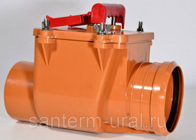 Обратный клапан для канализации: канализационный водяной и сухой затвор с электроприводом от запаха, установка шарового варианта