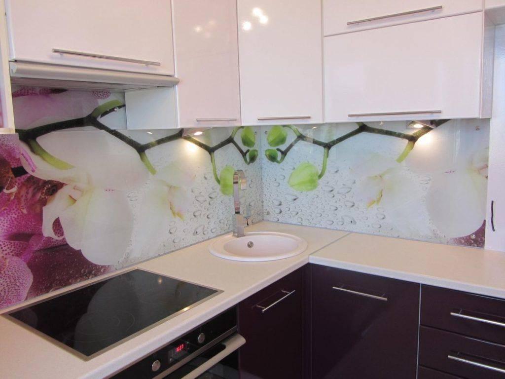 Стеклянный фартук для кухни: от скинали до оргстекла (85 фото)