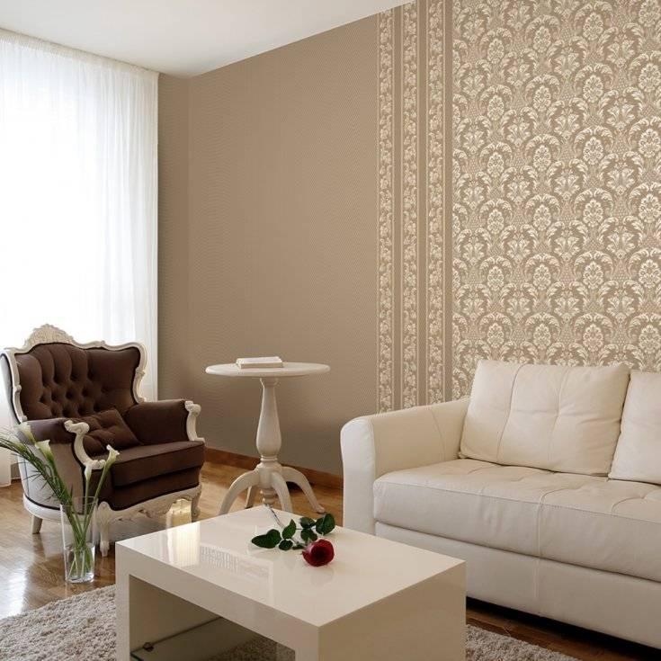 Креативно, сочно, по-домашнему: 68 фото-идей комбинирования обоев в гостиной