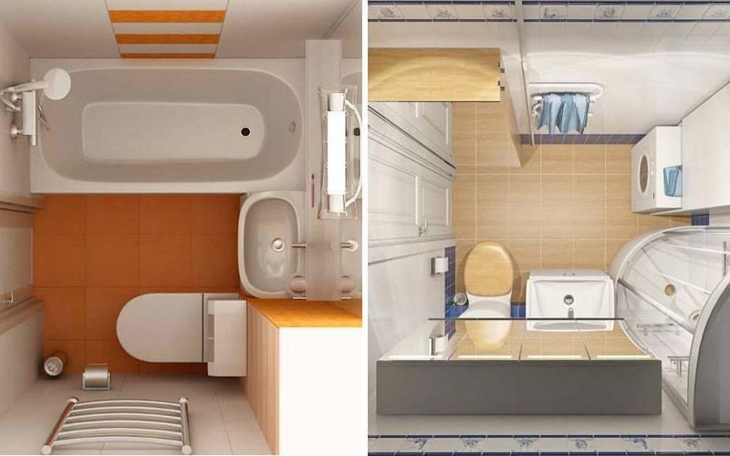 Дизайн ванной комнаты 3 кв м