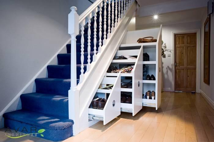 Шкаф под лестницей. своими руками, 500 фото, чертежи, пошаговые инструкции