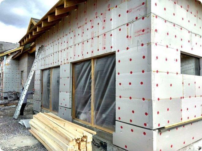 Как утеплить дом из пеноблока изнутри: видео, фото