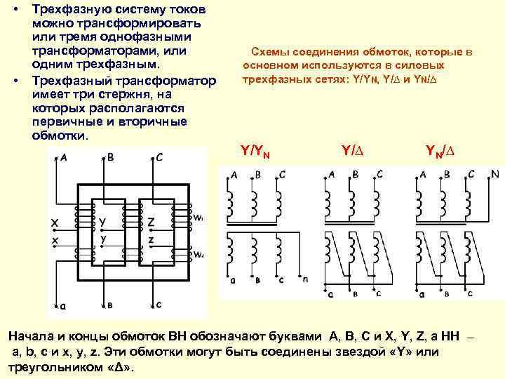 Силовые трансформаторы: назначение, устройство и принцип действия