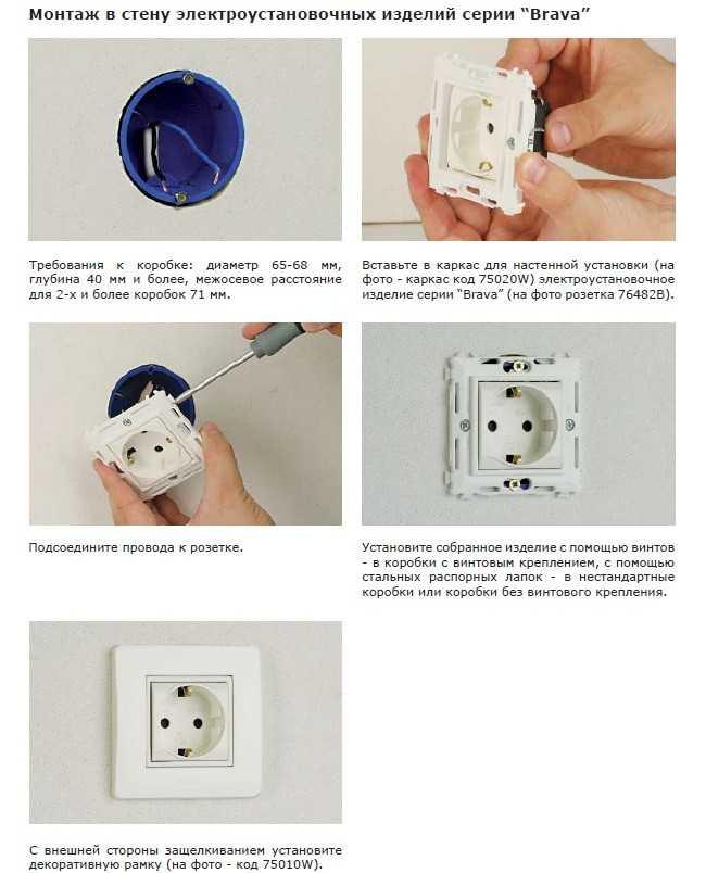 Монтаж электрических розеток, выключателей и распределительных коробок