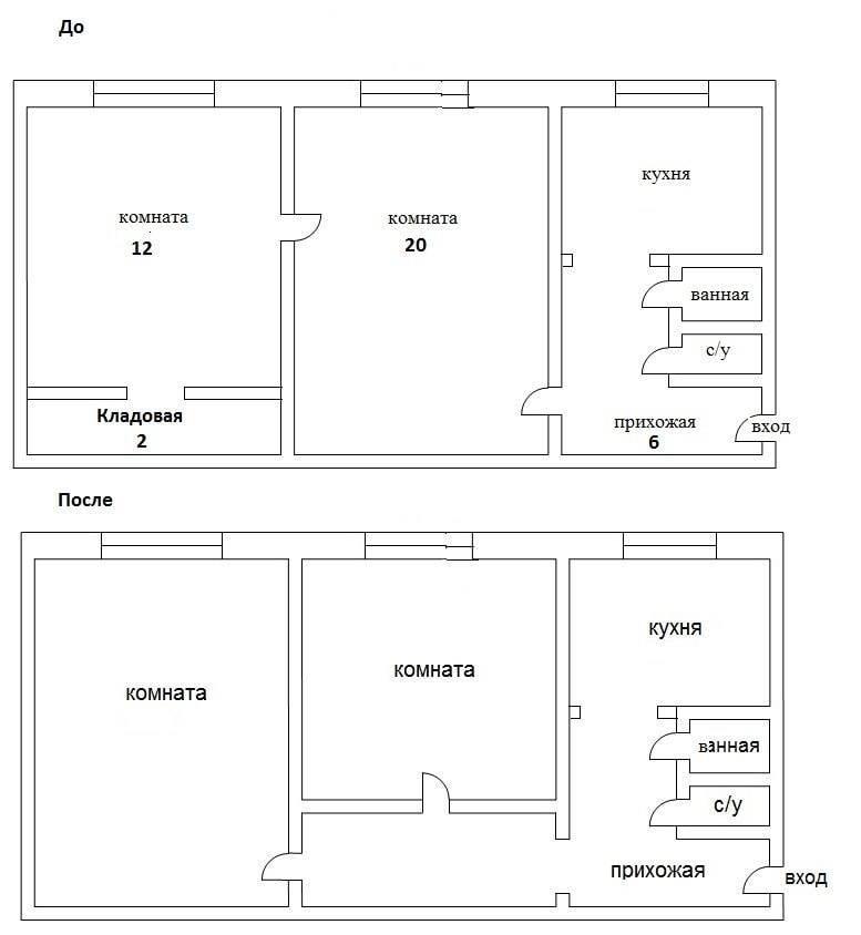 Как из двухкомнатной квартиры сделать трехкомнатную? 68 фото примеры перепланировки двушки в трешку. лучшие проекты и варианты