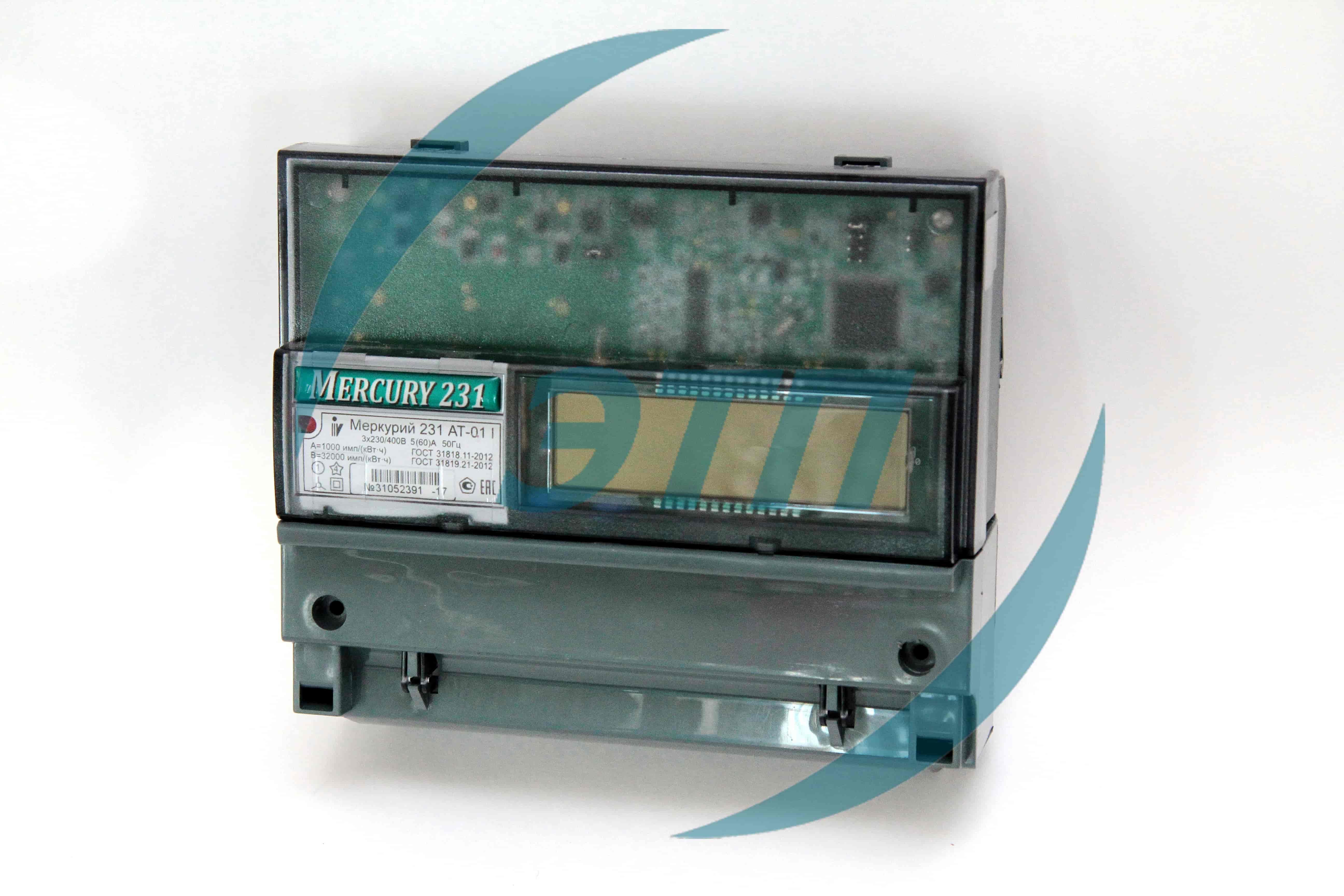 Счетчик электроэнергии прямого включения меркурий 230 art-02 rn 10(100)а трехфазный (380в) многотарифный rs485