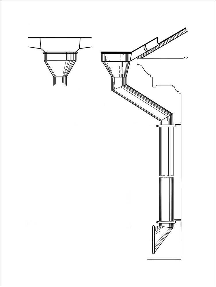 Воронка внутреннего водостока для обустройства плоской крыши