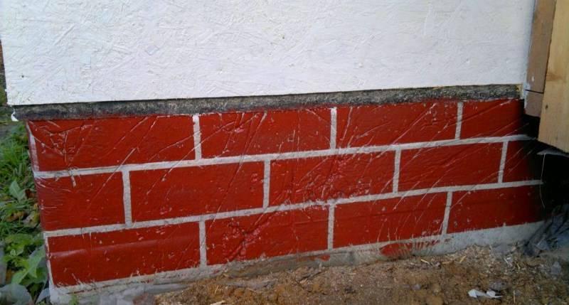 Покраска цоколя дома — этапы и выбор материала
