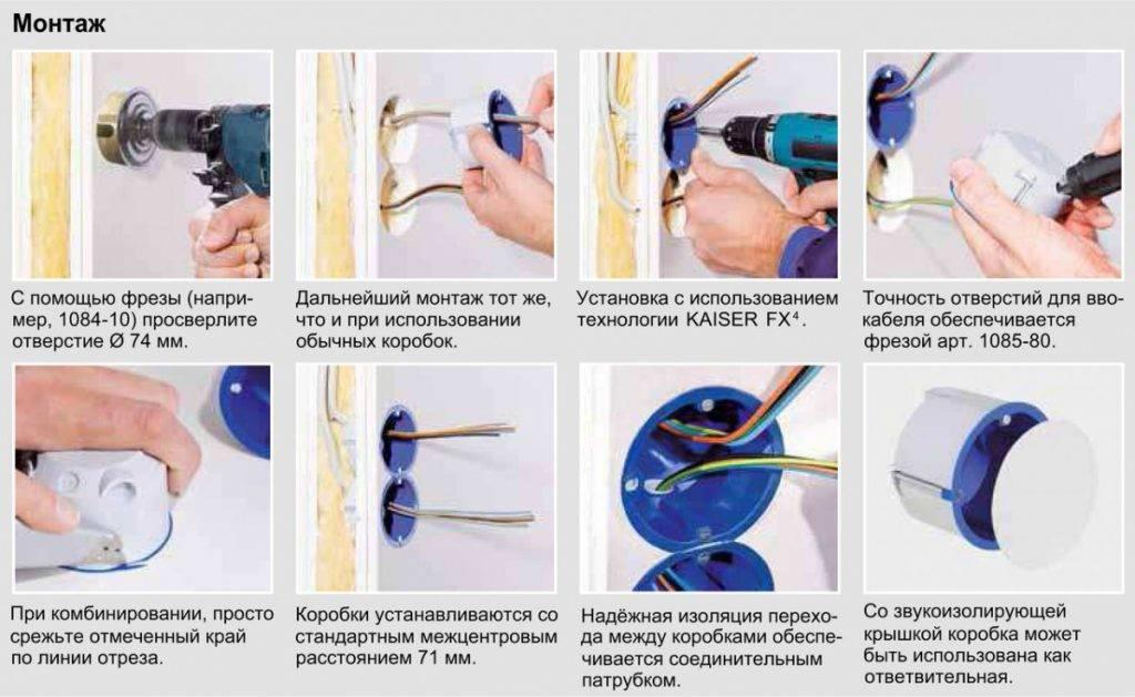 Установка розеток в гипсокартон: особенности монтажа, как установить в гипсокартоне, способы крепления, как правильно поставить