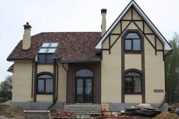 Отделка дома из газобетона снаружи: фасад из газобетонных блоков