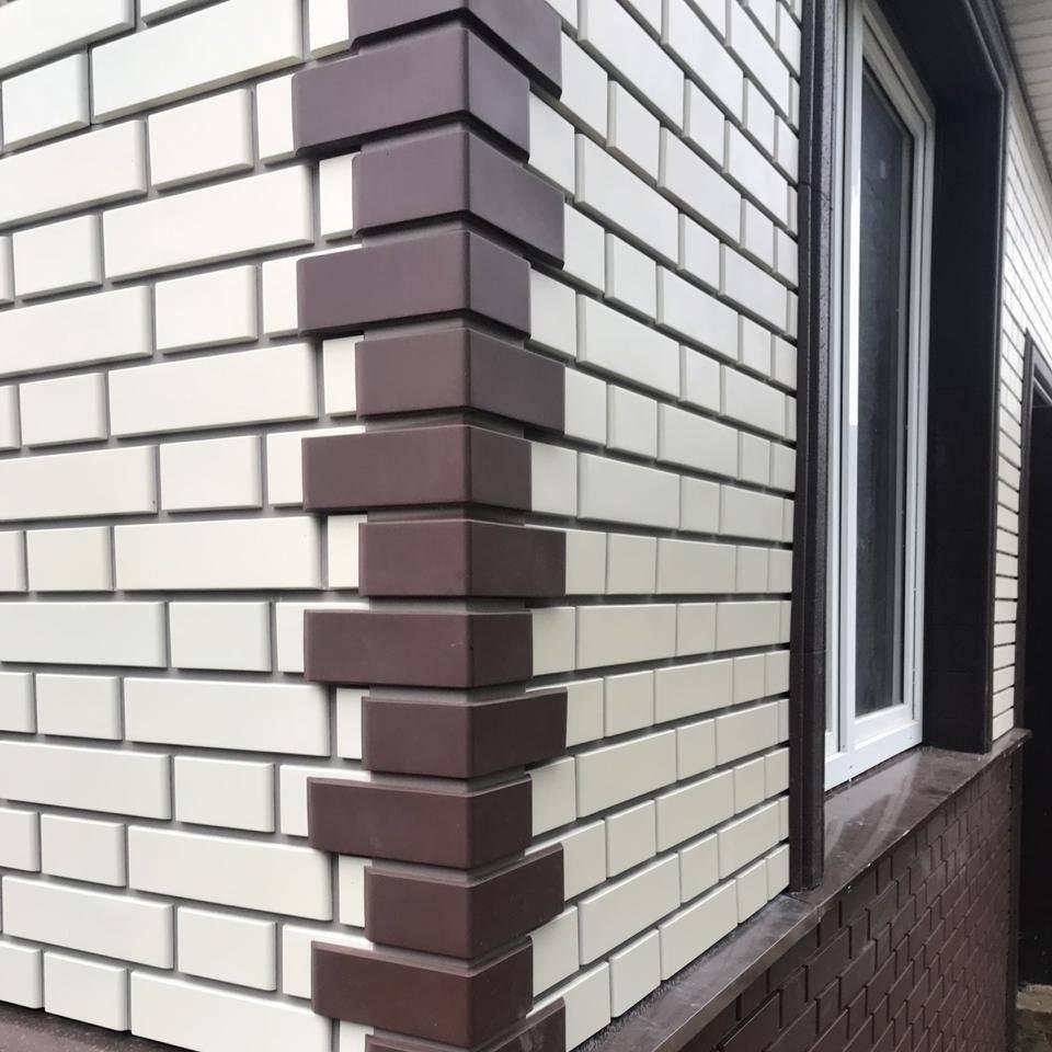 Фасадные панели: отделка дома панелями под кирпич