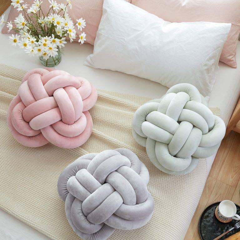 Декоративная подушка-узел своими руками - очумелые ручки - медиаплатформа миртесен