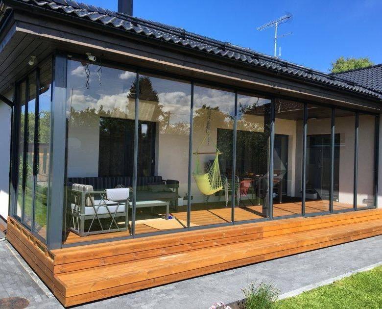 Раздвижные алюминиевые окна для балконов, веранд, беседок (24 фото): остекление террас и беседок алюминиевым профилем