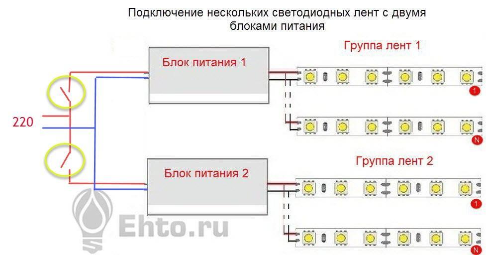 Как подключить светодиодную ленту: схемы и нюансы подключения