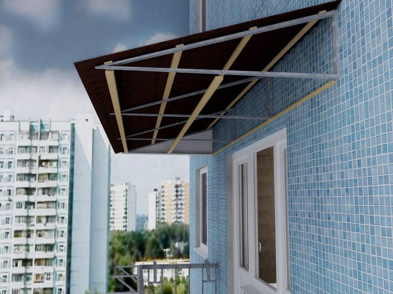Крыша на балкон или лоджию (вип-балкон, москва)