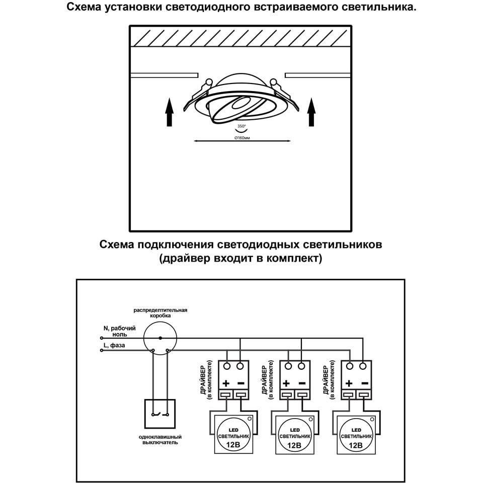 Порядок подключения светодиодных светильников к электричеству