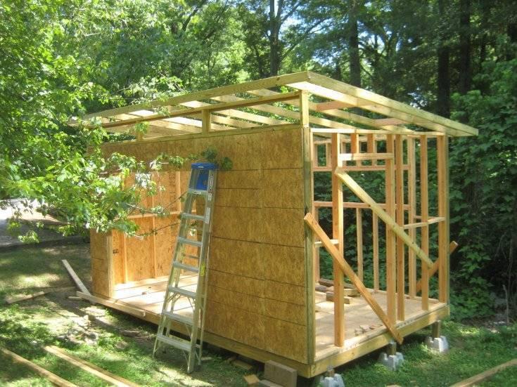 Дачный домик по каркасной технологии: стены и крыша