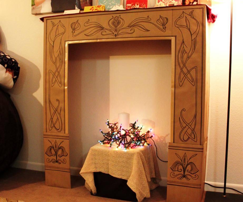 Камин из картона своими руками: пошаговая инструкция, как сделать декоративный камин самостоятельно