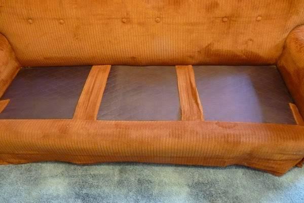Как перетянуть диван своими руками пошагово - полностью, подлокотники и спинку