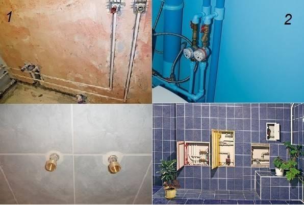Разводка труб в ванной и туалете своими руками: монтаж, схемы
