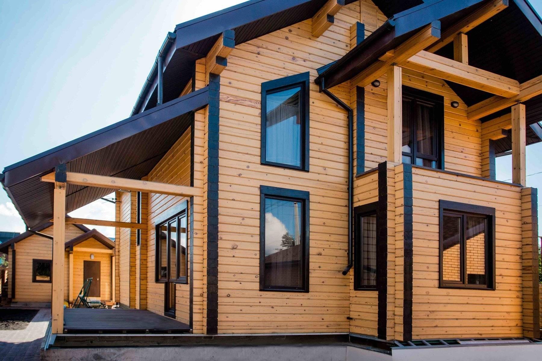 Внутрення отделка дома имитацией бруса