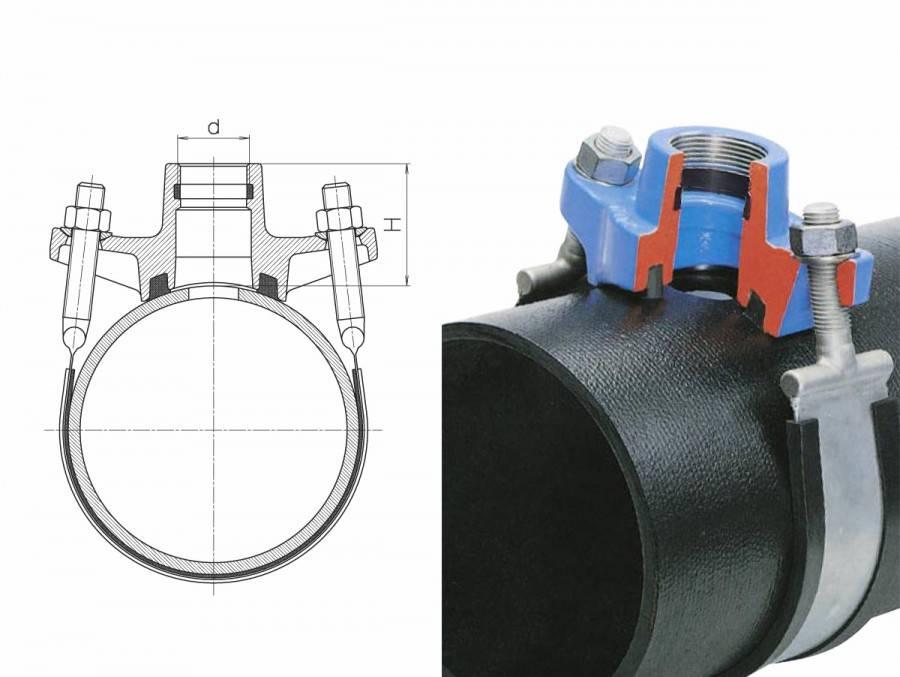 Как поставить хомут на трубу отопления?