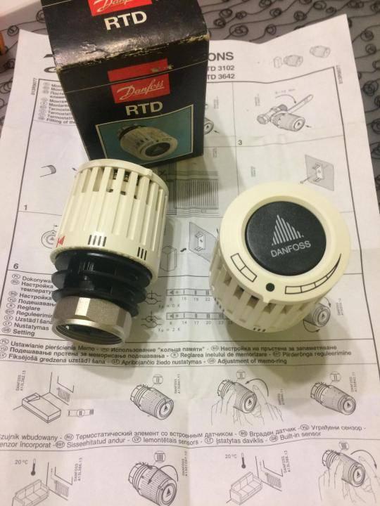 Термоголовки регуляторы температуры для батарей отопления danfoss