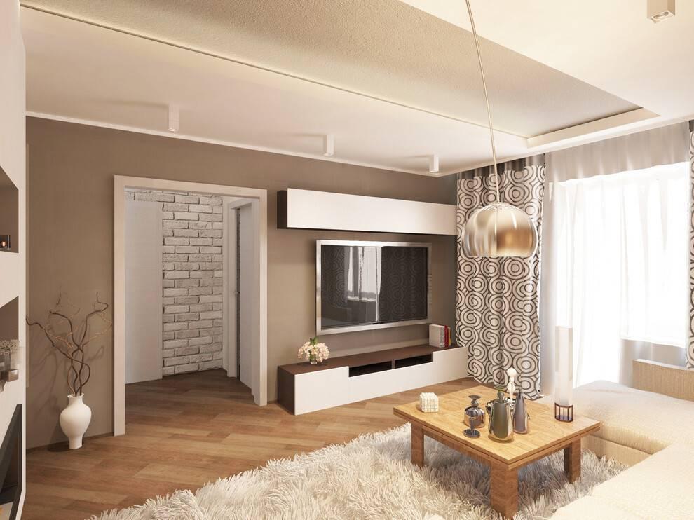 Дизайн двухкомнатной квартиры площадью 50 кв. м: примеры интерьеров