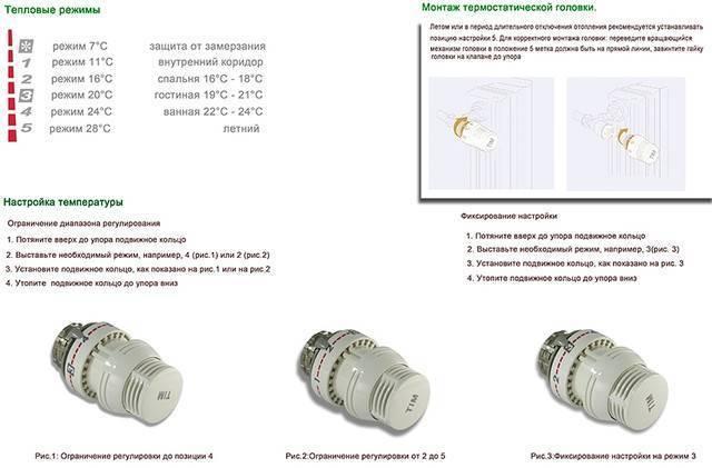 Терморегулятор для радиатора отопления danfoss настройка