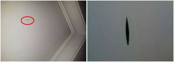 Ремонт натяжного потолка: порез, как заделать своими руками, что делать если порезали, как отремонтировать после пореза натяжной потолок, как устранить, убрать порез, как починить