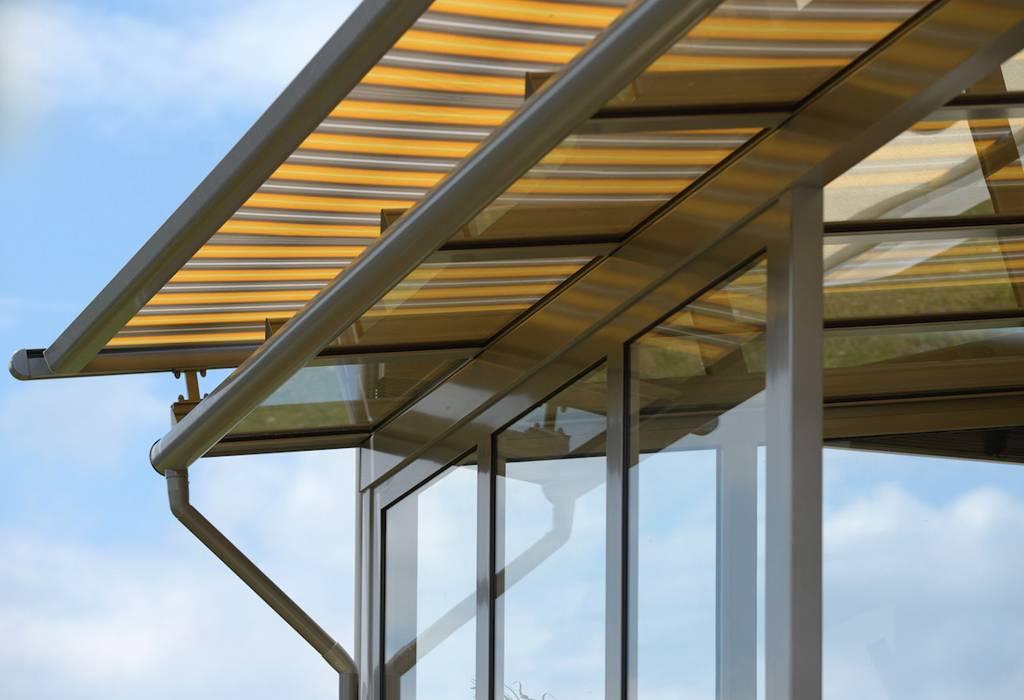 Стеклянная крыша на балконе