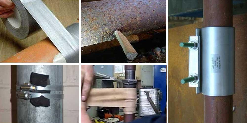 Трещина в чугунной канализационной трубе: как и чем заделать, если лопнула, чем заклеить, как устранить течь