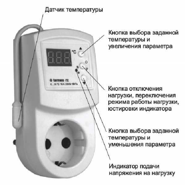 Терморегулятор для обогревателя: как подключить термостат в розетку для бытовых приборов, схема подключения терморегулятора с датчиком температуры воздуха